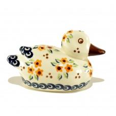 Duck figurine 10x5x6cm Flowers™